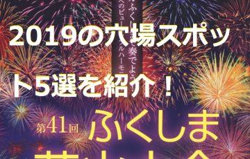ふくしま花火大会 2019 穴場スポット 5選 日程 時間 把握