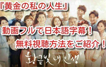 黄金の私の人生 動画 フル 日本語字幕 無料 動画  dailymotion pandora
