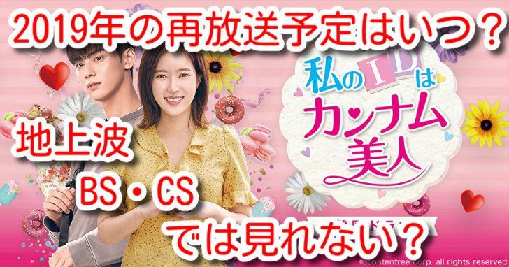 私のIDはカンナム美人 日本 再放送 予定 2019 いつ 地上波 BS CS