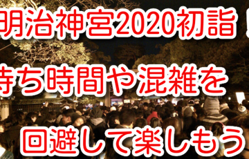 明治神宮 初詣 2020 待ち時間 参拝者 人数 混雑 時間帯 アクセス 駐車場