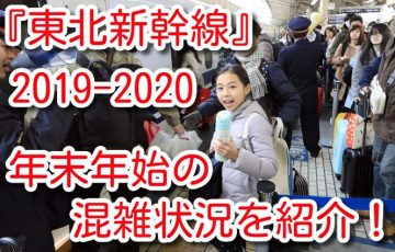 東北新幹線 年末年始 混雑状況 2019-2020 お得 ネット予約 割引